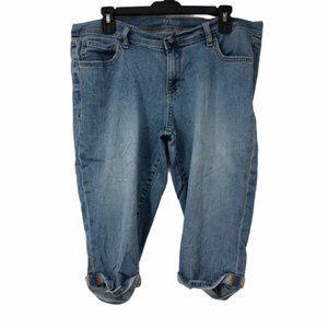 Old Navy Womens Blue Denim Capri Jeans 14